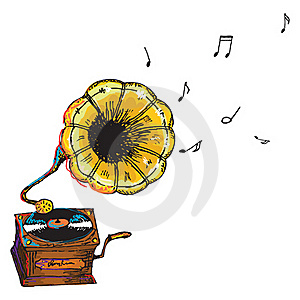 Gramophone Isolated Royalty Free Stock Images - Image: 21549249