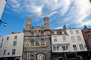 Buildings And Cathedral Gate Royalty Free Stock Photography - Image: 21549657