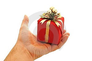 Man Hand Holding A Small Gift Box Stock Photo - Image: 21549910