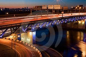 Bridge With Heavy Traffic Royalty Free Stock Image - Image: 21557976