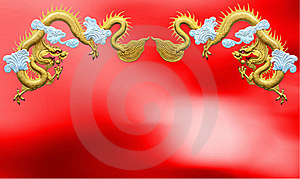 Two Golden Dragons Royalty Free Stock Photo - Image: 21558785