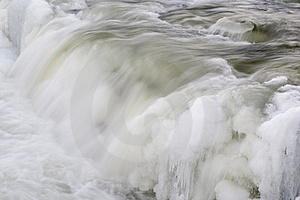 Waterfall With Ice Royalty Free Stock Photography - Image: 21559427