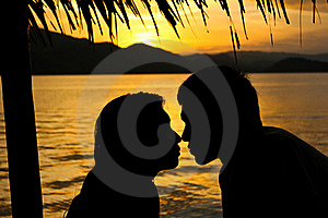 Romantic Sunset Royalty Free Stock Images - Image: 21561309