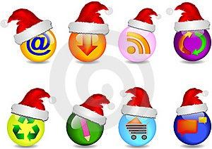 Main Business Christmas Icons Stock Photography - Image: 21565182