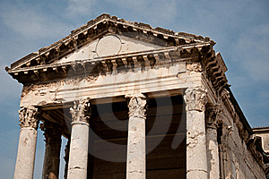 Old Roman Temple In Croatia Royalty Free Stock Image - Image: 21568036