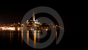 Rovinj at night Free Stock Images