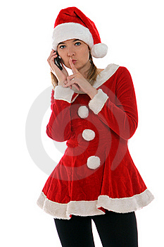 Santa Told Me A Secret Royalty Free Stock Image - Image: 21575976
