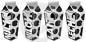 Milk Packaging - Emballages De Lait - Milch-Verpac Stock Images - Image: 21578204