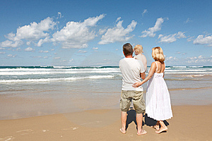 Family In The Mediterranean Royalty Free Stock Image - Image: 21584636