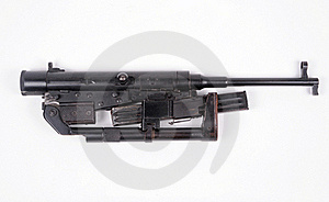 Folding Machine Gun Stock Photo - Image: 21584710