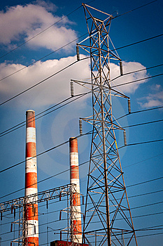 Power Plant Stack Stock Photography - Image: 21588602