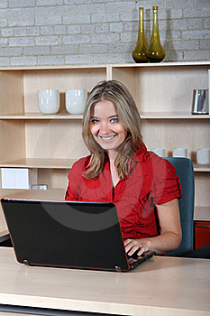 Woman At Her Desk Royalty Free Stock Photos - Image: 21588968