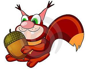 Squirrel With Acorn Stock Photos - Image: 21590993