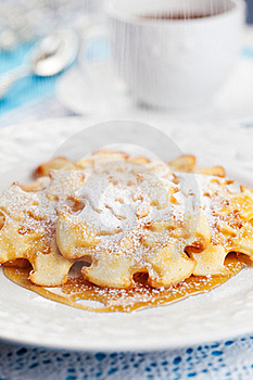 Christmas Snowflake Pancakes Stock Photo - Image: 21591130