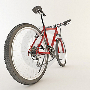 3d Red Bicycle. Stock Images - Image: 21594194