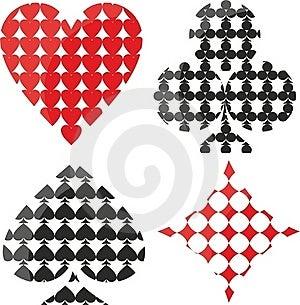 Symbols Playing Cards Stock Photos - Image: 21594813