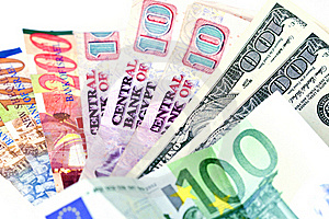 Several Countries Currencies (focus On Dollars) Stock Images - Image: 21595734