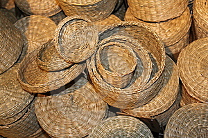 Straw Baskets Royalty Free Stock Photography - Image: 21596667