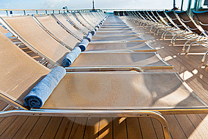 Outdoor Relaxation Area On Cruise Liner Stock Photo - Image: 21599480