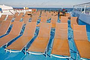 Outdoor Relaxation Area On Cruise Liner Royalty Free Stock Photography - Image: 21599527