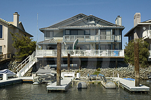 Executive House On The Water Stock Photography - Image: 2163972