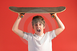 Skateboard Scream Stock Photos - Image: 2166873