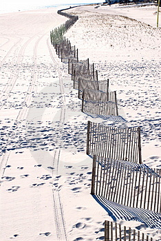 Fences In The Sand Stock Photography - Image: 2168332