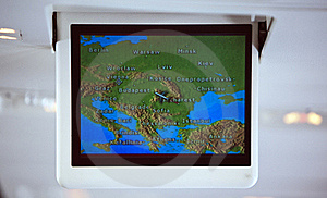 GPS Screen Stock Photography - Image: 21600292