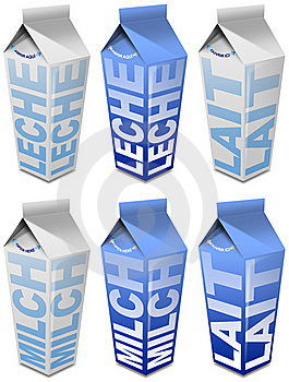 6 Milk Packaging Stock Photo - Image: 21602990