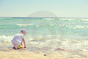The Boy And The Sea Royalty Free Stock Photo - Image: 21605005