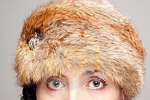 Closeup Of Fur Hat And Eyes Stock Photos - Image: 21611803