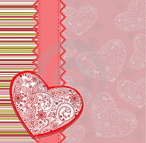 Postcard With Heart Stock Photo - Image: 21614520