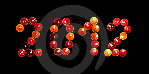 2012 Made of Colored Candles Royalty Free Stock Photos - Image: 21621868