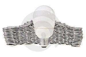 Power Saving Energy Lightbulb. Royalty Free Stock Images - Image: 21624929