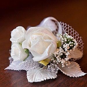 Satin Wedding Rose Stock Photos - Image: 21626983