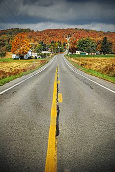 Country Road With Fall Colors Stock Photos - Image: 21627583
