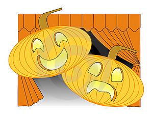 Theatrical Pumpkins Stock Photo - Image: 21630790