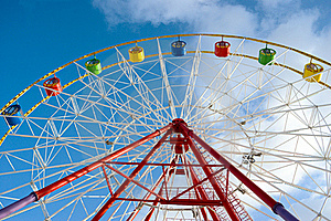 Attraction Ferris Wheel Royalty Free Stock Photo - Image: 21631245