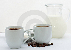 Two Espresso Cups With Coffee Stock Photo - Image: 21632900