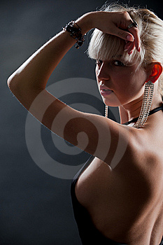 Lady In Black Stock Photos - Image: 21636043
