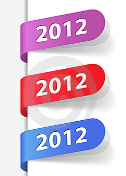 2012 Labels Stock Images - Image: 21642534