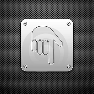 Download Icon With Hand. Royalty Free Stock Photography - Image: 21644467