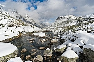 Mountain Creek In Tatra Mountains Royalty Free Stock Photos - Image: 21645708