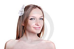 Beautiful Woman Face Closeup Royalty Free Stock Image - Image: 21648906