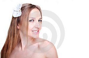 Beautiful Woman Face Closeup Royalty Free Stock Images - Image: 21648919