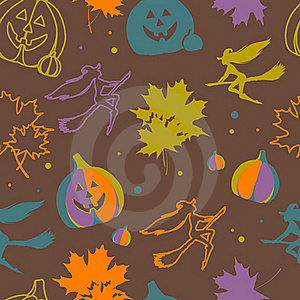 Halloween Seamless Pattern Royalty Free Stock Images - Image: 21649449