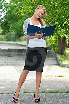 Business Woman With Documents Stock Image - Image: 21655541