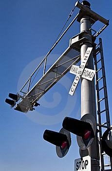 Overhead Railroad Crossing Stock Photography - Image: 21656052