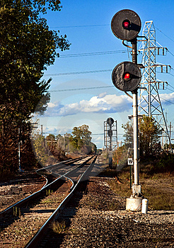 Train Signal Stock Photo - Image: 21656150