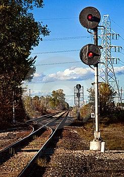 Train Signal Stock Photo - Image: 21656150